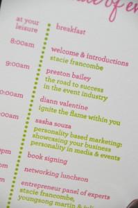 Letterpress Itinerary