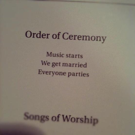 Hilarious Wedding Programs Wiregrass Weddings