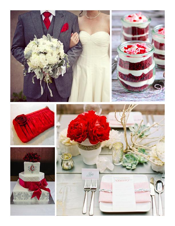 Red + Grey Wedding Inspiration – Wiregrass Weddings