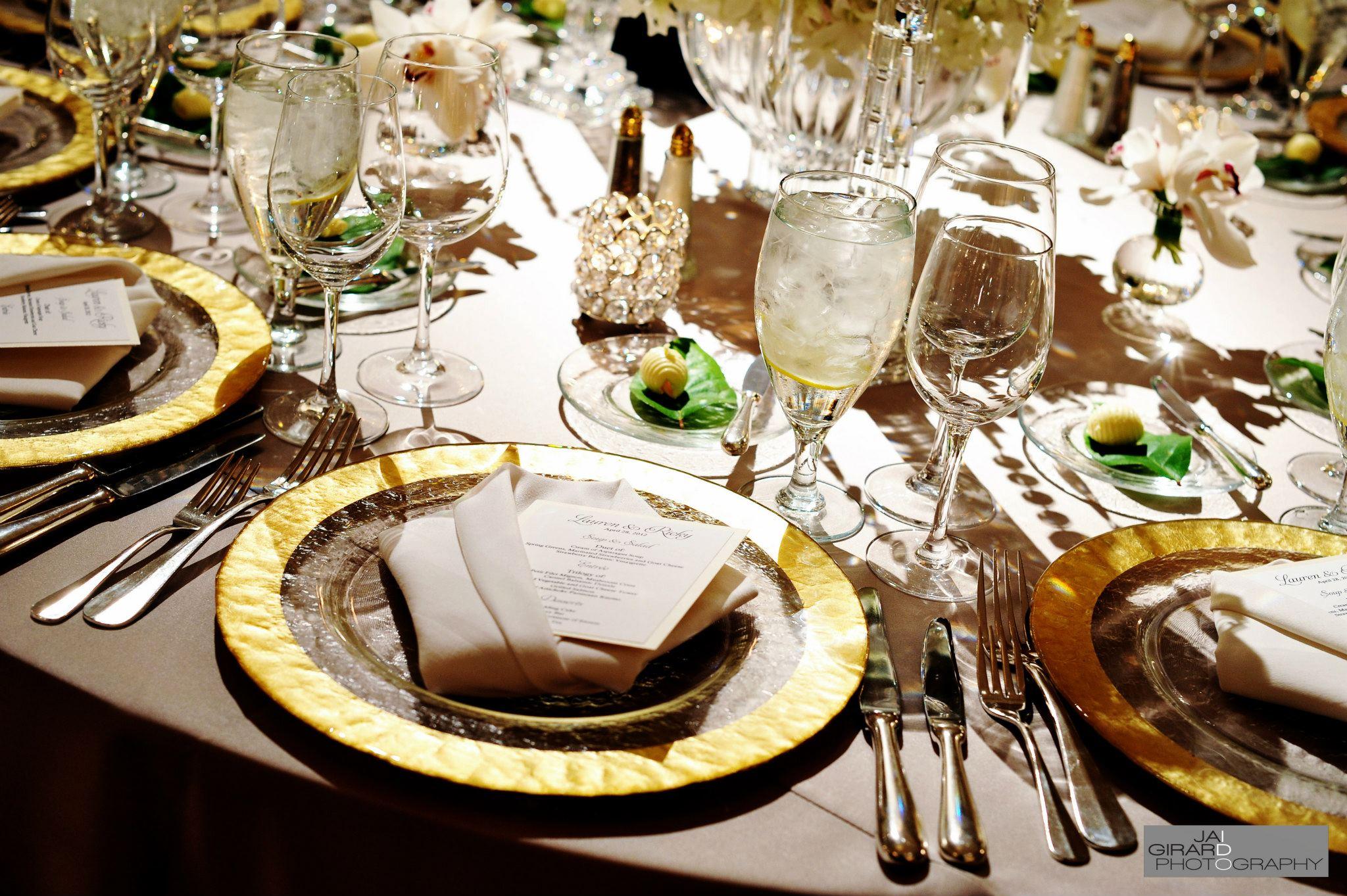 Gold Table Setting Wedding Pinterest