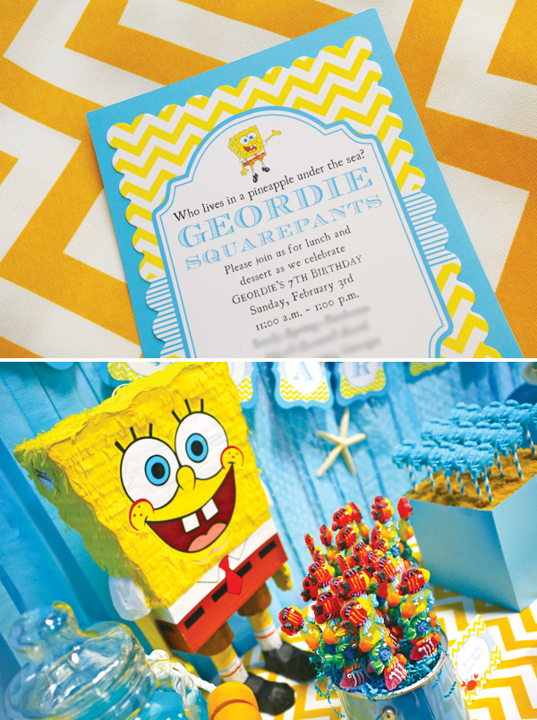 Hostess with the Mostess Feature Spongebob Party Wiregrass – Spongebob Party Invitations