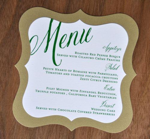 Food Menu For Wedding: Wiregrass Weddings