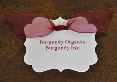 Burgundy Organza Ribbon