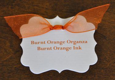 Burnt Orange Organza Ribbon