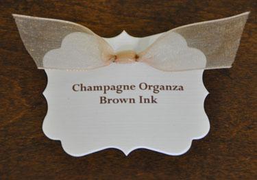 Champagne Organza Ribbon