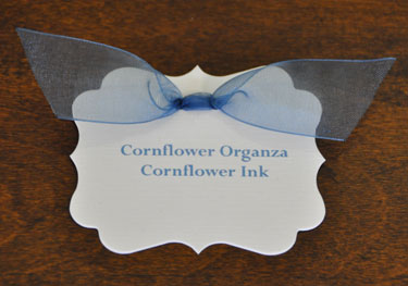 Cornflower Organza Ribbon