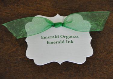 Emerald Organza Ribbon