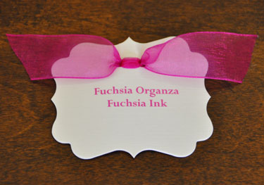 Fuchsia Organza Ribbon