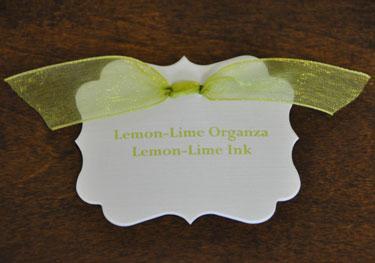 Lemon-Lime Organza Ribbon
