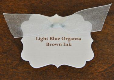 Light Blue Organza Ribbon