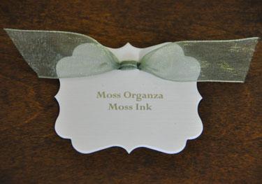 Moss Organza Ribbon