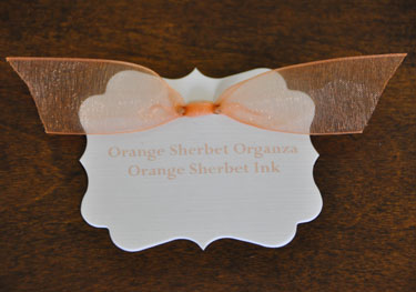 Orange Sherbet Organza Ribbon