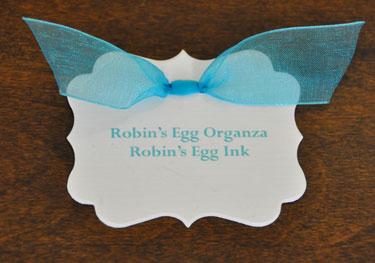 Robin's Egg Organza Ribbon