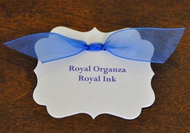 Royal Blue Organza Ribbon