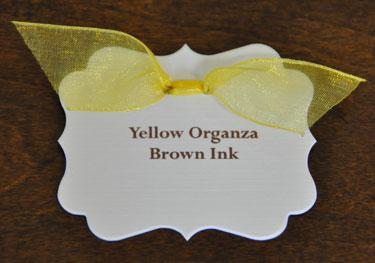 Yellow Organza Ribbon
