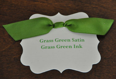 Grass Green Satin Ribbon