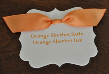 Orange Sherbet Satin Ribbon