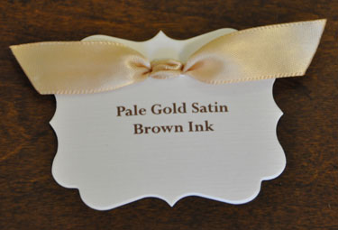 Pale Gold Satin Ribbon