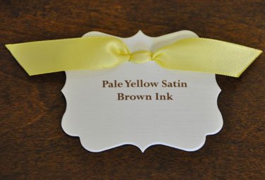 Pale Yellow Satin Ribbon