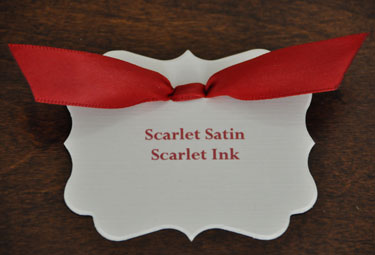 Scarlet Satin Ribbon