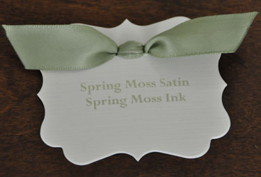 Spring Moss Satin Ribbon