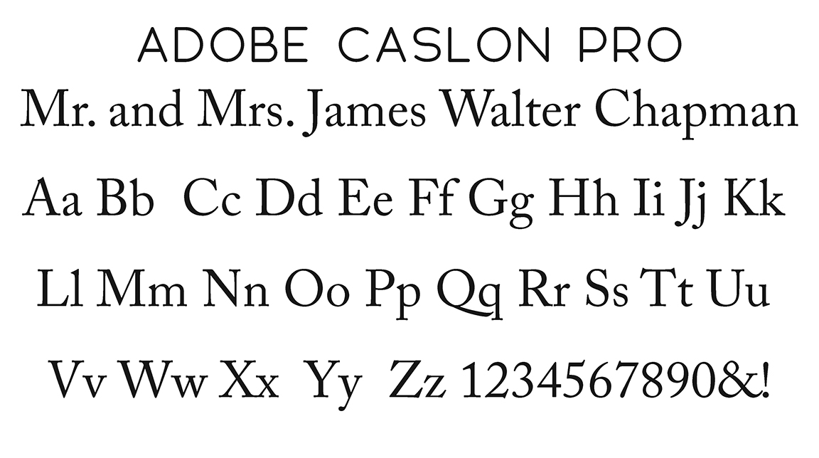 Adobe Caslon Pro Block Font