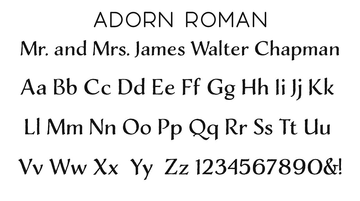 Adorn Roman Block Font