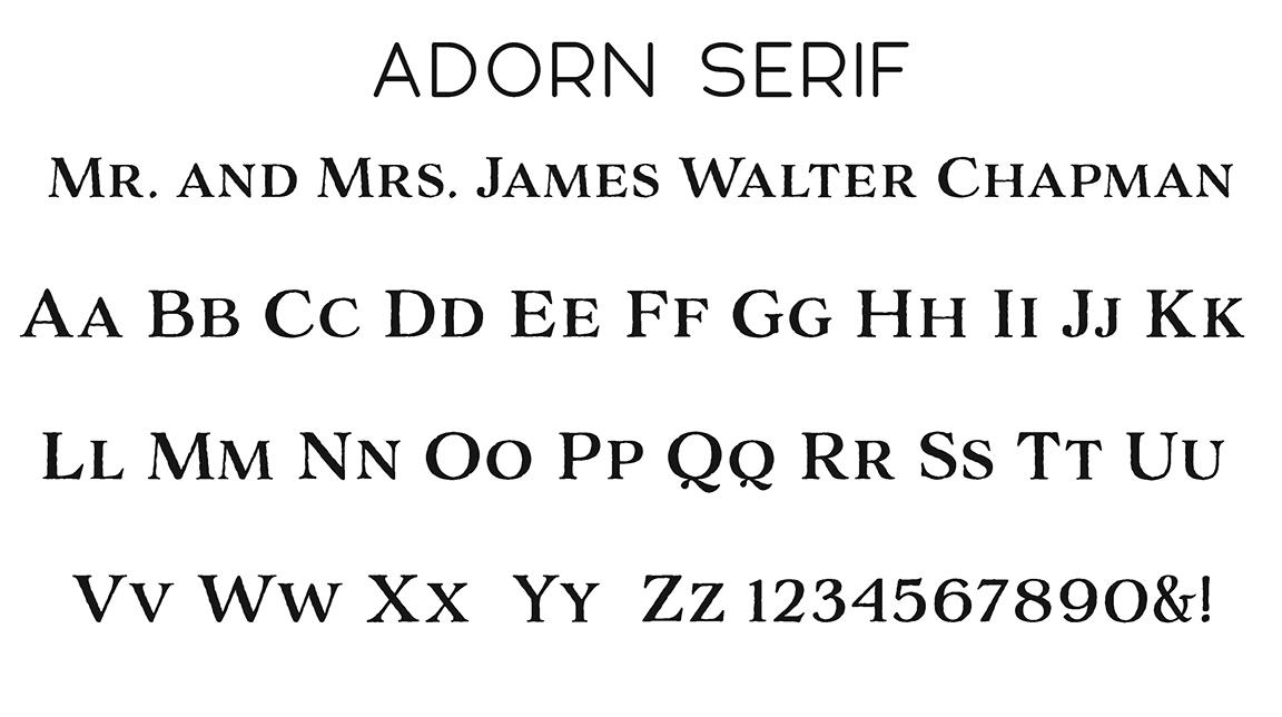 Adorn Serif Block Font