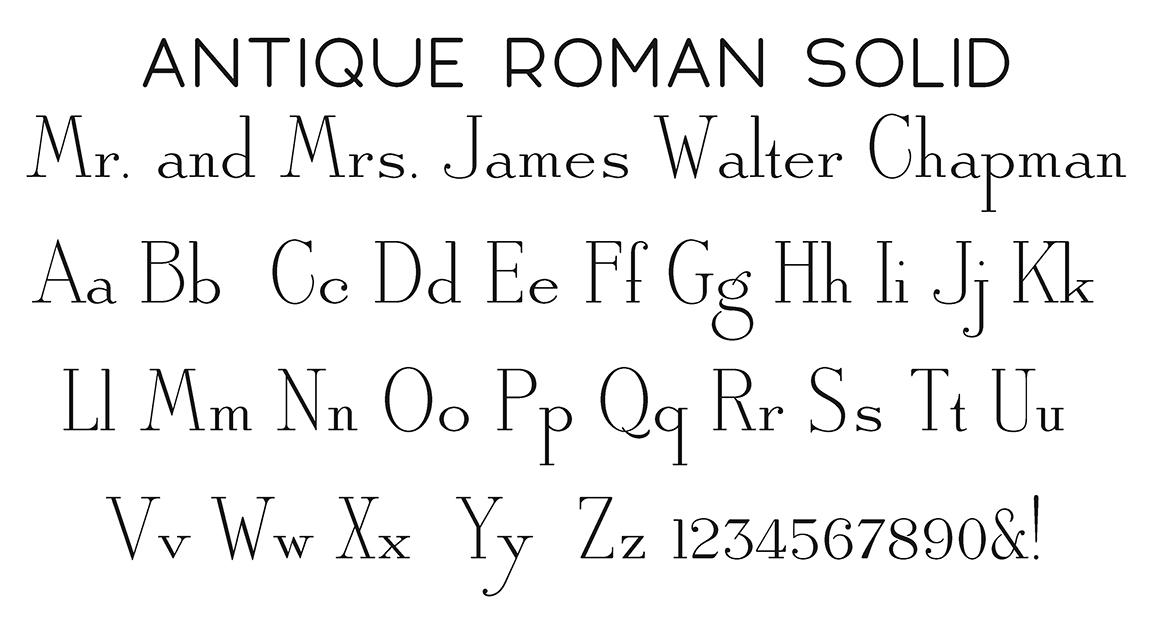 Antique Roman Solid Block Font