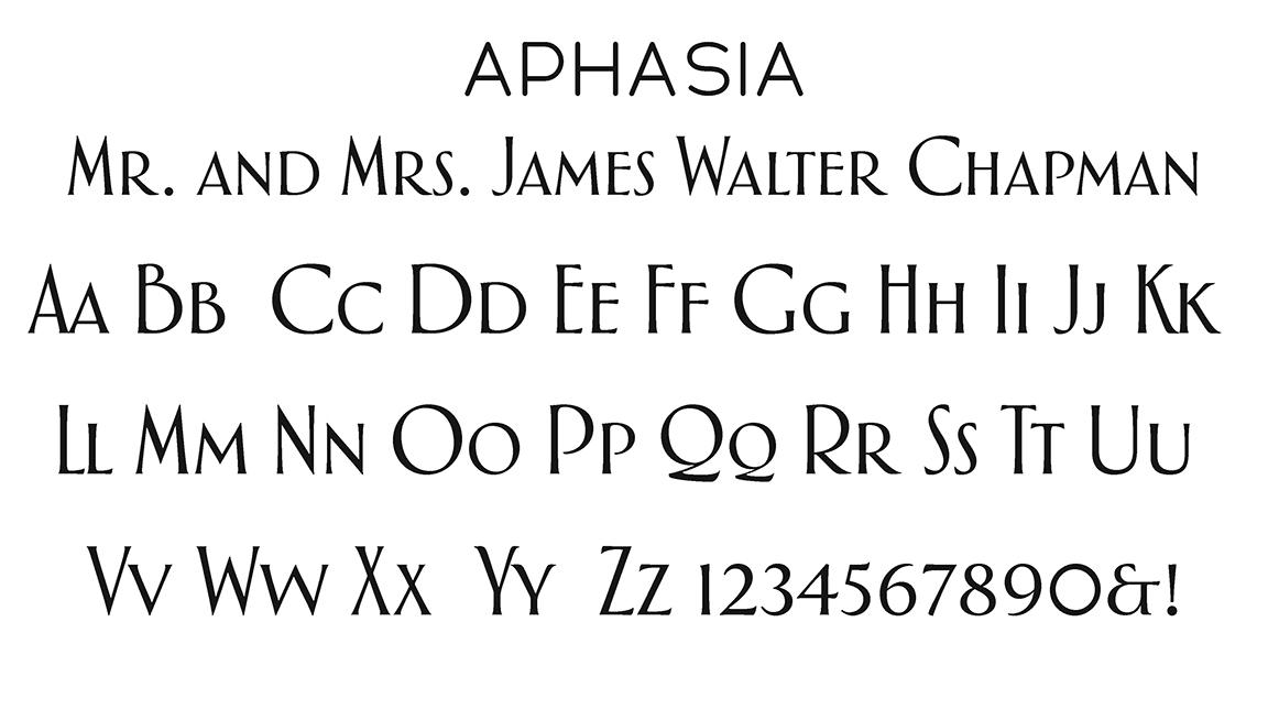 Aphasia Block Font