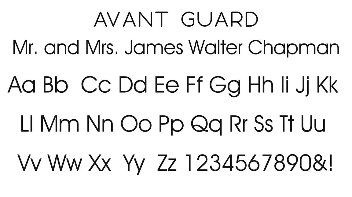Avant Guard Block Font