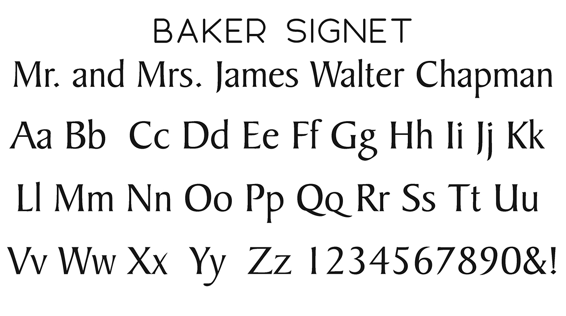 Baker Signet Block Font
