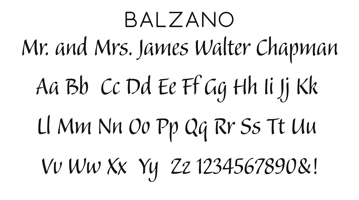 Balzano Block Font