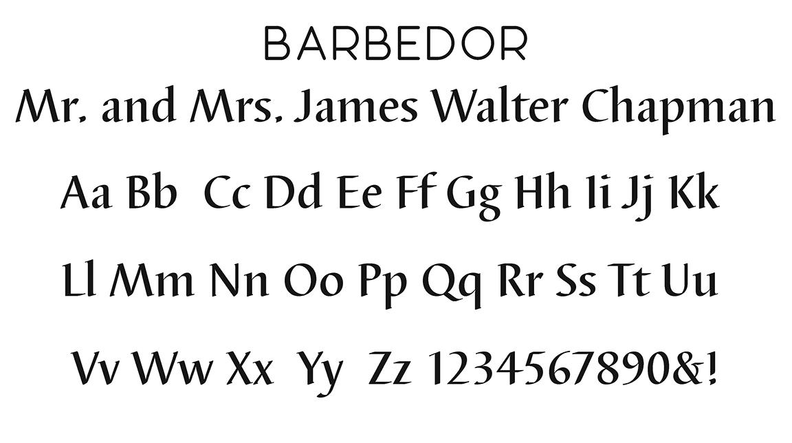 Barbedor Block Font