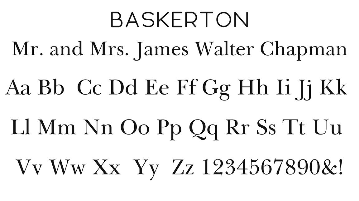 Baskerton Block Font