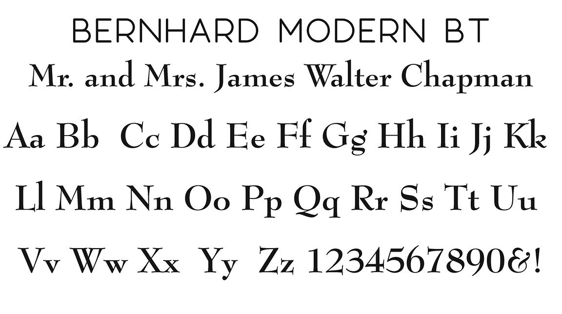 Bernhard Modern Block Font