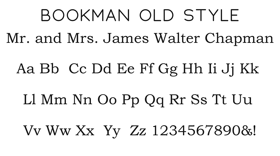 Bookman Old Style Block Font