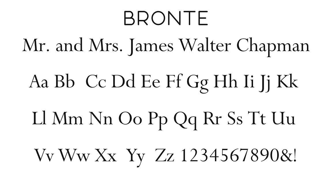 Bronte Block Font