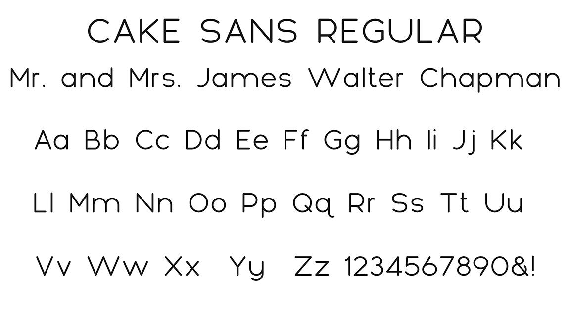 Cake Sans Block Font