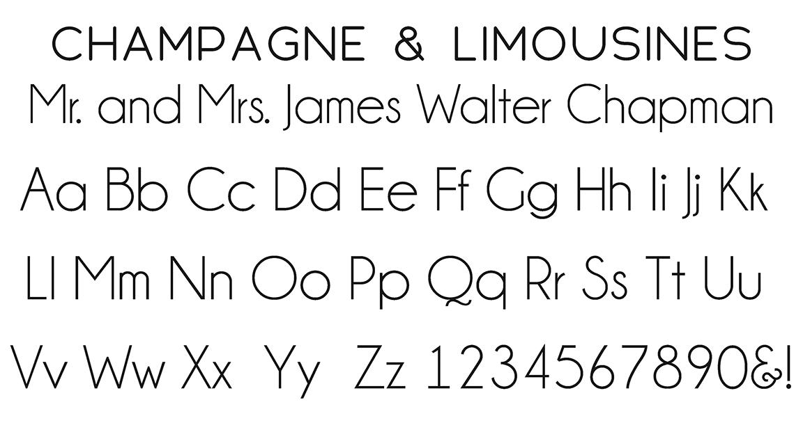 Champagne & Limousines Block Font