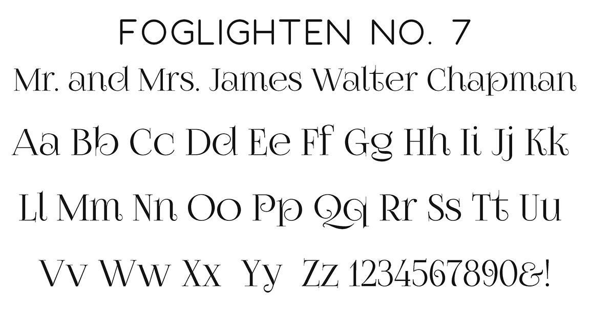 Foglighton No. 7 Block Font