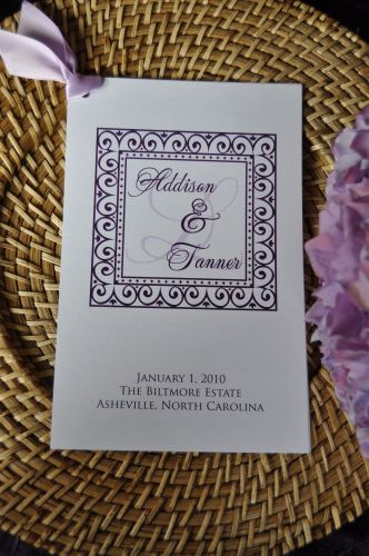 Wedding Programs (Caroline)
