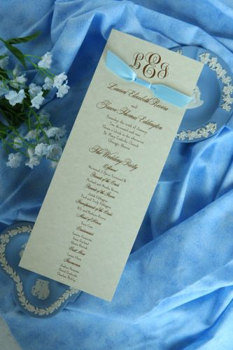 Wedding Program (Kate)