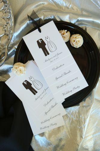 wedding program  madyson