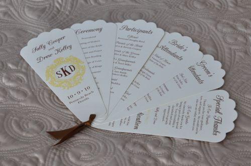 fan wedding programs leanna wiregrass weddings
