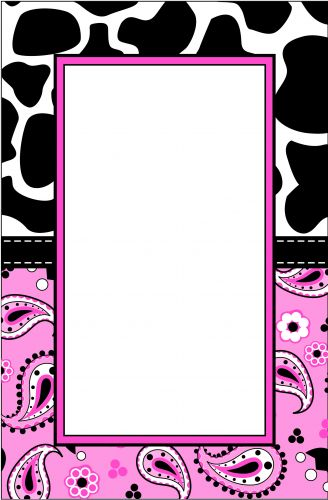 Pink Cow Paisley Party Invitation