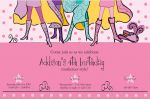 Pink Musketeers Party Invitation