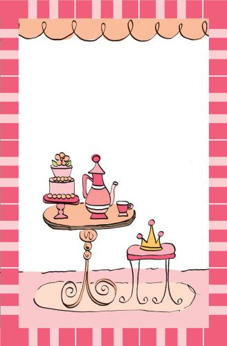 princess tea party invitation - wiregrass weddings, Party invitations