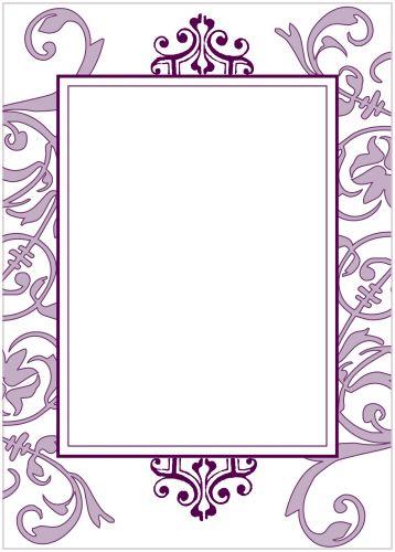 purple flourish party invitation - Blank Party Invitations