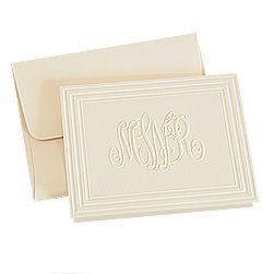 Classic Frame Monogram Note Cards
